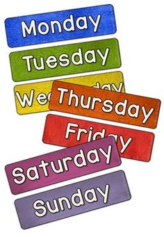 FREE Days of the week to complement the Morning Routine Set  Made with Real PhotosThis set has backgrounds of different colors of scrunched up paper.