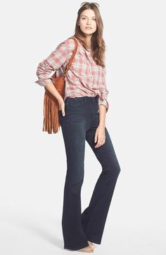 Free shipping and returns on Treasure&Bond High Rise Flare Jeans (Long) at Nordstrom.com. Streamlined flare jeans are designed to fit snugly through the hip before fading into a groovy, bell-shaped silhouette.<br><br>When you buy Treasure&Bond, Nordstrom will donate 5% of net profits to organizations that work to empower women and girls.