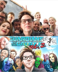 Mirror Images of the Guardians of the Galaxy Vol. 2 actors and their movie persona in an artwork #Marvel #Art