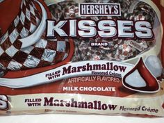 this is the perfect candy for me!for smores cookies Hershey Chocolate Bar, Chocolate Filling, Chocolate Lovers, Chocolate Kisses, Hershey Kisses Flavors, Kisses Candy, Hershey's Kisses, Marshmallow Creme, Best Candy