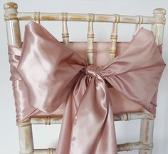 Satin Chair Sash - Rose Gold