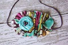 Bespoken rosette & ruffle bib necklace and by babybirdieboutique