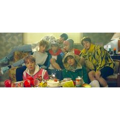 "BTS' ""Spring Day"" Breaks US iTunes Record For K-Pop Groups, New Album... ❤ liked on Polyvore featuring kpop"