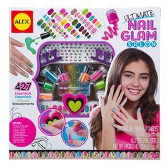 This amazing Alex Ultimate Nail Glam Salon is girls mani & pedi dream craft kit! Manufactured by Alex Toys. Toys For Girls, Gifts For Girls, Girl Gifts, Girl Toys, Alex Toys, Gem Nails, Nail Gems, Nail Art Set, Fantasias Halloween