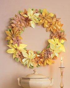 Ribbon-Poinsettia Wreath - Martha Stewart Crafts