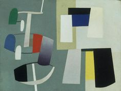 """Equilibrium Jean Hélion (French, 1904–1987)  Date:1934Medium:Oil on canvasDimensions:10 3/4 x 13 3/4"""" (27.3 x 35 cm)"""