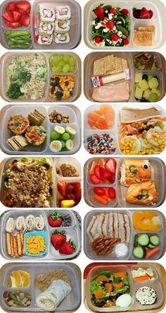 Healthy lunch snacks for kids Lunch To Go, Lunch Meal Prep, Healthy Meal Prep, Healthy Snacks, Healthy Recipes, Healthy Packed Lunches, Detox Recipes, Healthy School Lunches, Healthy Lunchbox Ideas