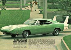 DODGE DAYTONA Green Charger 1969 Vintage Ad #AllStarAuto www.allstarautomotive.com