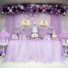 Purple Ballerina Birthday Party - Pink And Purple Birthday Decoration Ideas Ballerina Party, Ballerina Baby Showers, Ballerina Birthday Parties, Girl Birthday, Ballerina Dress, Birthday Ideas, Lilac Baby Shower, Lavender Baby Showers, Baby Girl Shower Themes