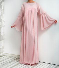 NEW SS16 Pink Maxi Dress Chiffon dress by cherryblossomsdress