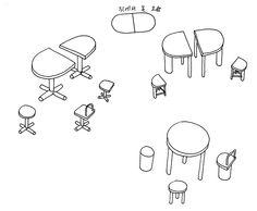 길종상가 - 테이블과 의자