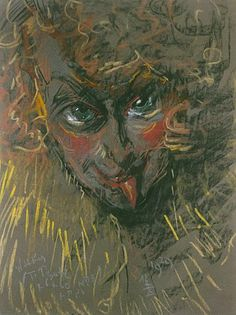 Portret Neny Stachurskiej, by S. Portrait Illustration, Portraits, All Art, Drawings, Drawing Faces, Sketches, Caricatures, Painting, Pastels