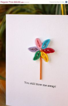 Pinwheel Card - Unique Anniversary Card - Love - Marriage