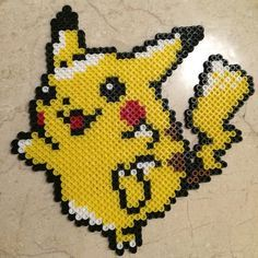Pikachu perler beads by perlerhouse