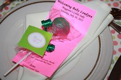 Pink and Green Polka Dots Baby Shower Party Ideas | Photo 6 of 15 | Catch My Party