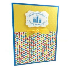 Handmade Birthday Greeting Card  Colorful by EmbellishbyJackie, $3.00