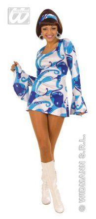063640806ed36 Déguisement disco femme bleu Taille S Go Go Girl Costume
