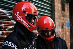 Supreme Collaborates With Simpson for a Street Bandit Motorcycle Helmet