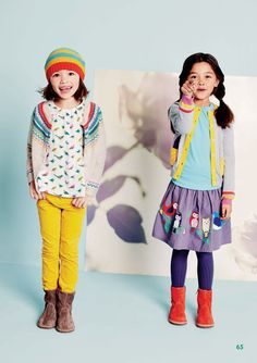 Cute, cheery styling for little girls and easy to find brand at nordstrom!! #Boden #AW14 #Sneakpeek
