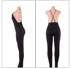 Deep V sexy backless pencil pants / feet pants nightclub Cashmere Suede Leather One Pieces Jumpsuit Women Rompers Rompers Women, Jumpsuits For Women, Black Romper, Women Brands, Night Club, Suede Leather, Latest Trends, Cashmere, Backless