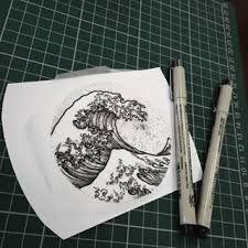 Résultats de recherche d'images pour «dotwork tattoo japanese wave»