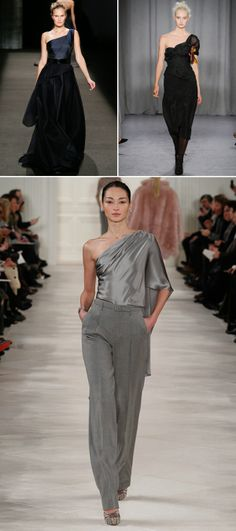 Asymmetric top - Autumn/Winter 14/15 Ready-To-Wear Round-Up:  Trends For The Bridal Party. #wedding #bridal #bridesmaid