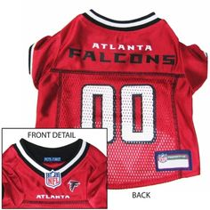 Atlanta Falcons Dog Jersey - Pets First Get your dog ready for the game  with this officially licensed NFL dog jersey designed with the Atlanta  Falcons team ... 75afab0f8