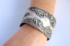 Victorian .925 Sterling Silver Folded Mirror Cuff by CelebLuxe