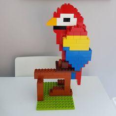 Hier siehst du einen Papagei aus LEGO® Duplo, der uns von BRICKaddict.de gefällt!