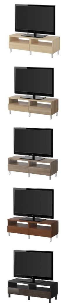 Tight on space? Not a problem! BESTÅ lets you create the perfect size TV unit to suit your needs, as well as your style.