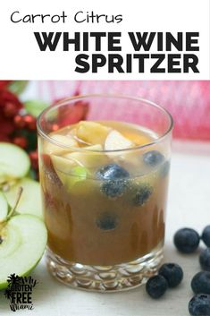 Carrot Citrus White Wine Spritzer is the perfect holiday drink, Full ...