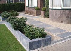 Tuin en stenen rand