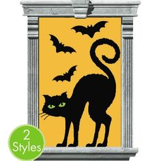 Cat And Bat Window Silhouette 2ct
