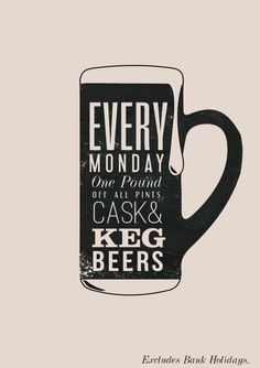Poster for 'Tappy Monday' cask and keg beer promotional posters