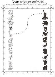 50 Atividades Bíblicas da Arca de Noé para Imprimir e Colorir - Ensino Religioso - Online Cursos Gratuitos Preschool Learning, Kindergarten Worksheets, Teaching Kids, Animal Matching Game, Matching Games, Kids Education, Special Education, Le Zoo, Pre Writing