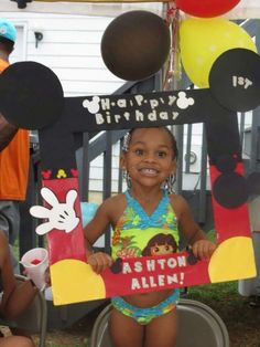 Tina A's Birthday / Mickey Mouse - Photo Gallery at Catch My Party Mickey Mouse 1st Birthday, Mickey Mouse Clubhouse Party, 1st Birthday Parties, Birthday Ideas, Mickey Mouse Headband, Mickey Mouse Photos, Picture Frames, Portrait Frames, Picture Frame
