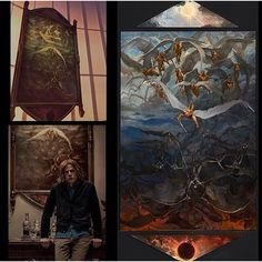 Instagram media everything_dceucomics - The Painting In Lex Luthor's Study, Prop From Batman v Superman.  We Know Better Now, Don't We? Devils Don't Come From Hell Beneath Us. No, They Come From The Sky. @batmanvsuperman  Image By: @vancekovacs