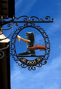 Ancient Sign Of A Shoe Shop,since 1905,Gernsbacher Strasse,Baden-Baden,Baden,Wurttemberg,Germany,Europe Stock Photos / Pictures / Photography / Royalty Free Images at Inmagine