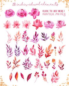 Be my Valentine - watercolor set by Charushella on Watercolor Plants, Watercolor Heart, Wreath Watercolor, Easy Watercolor, Watercolor Cards, Watercolor Background, Valentines Watercolor, Valentines Art, Be My Valentine