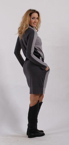 Šedé  šaty