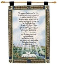 23rd Psalm Wall Tapestry