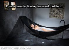 if youu0027ve ever lounged in a hammock and wished it doubled as a bathtub vessel by splinter works should probably be your next bathroom addition