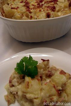 Papas doble horneadas (estilo twice baked potatoes) - Pizca de Sabor