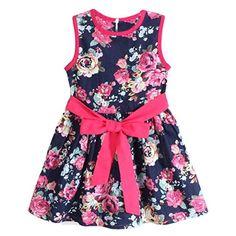 Sunnywill Mode Schöne Mädchen Blume Prinzessin Party Röcke Kinder Abendkleid Ärmellos Floral