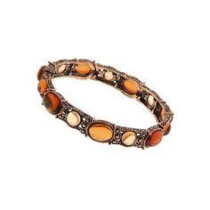 Cinnamon Sugar Stretch Bracelet ($32) found on Polyvore