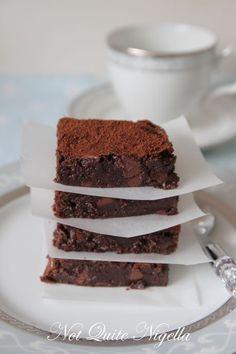 Chocolate Chestnut Brownies, Gluten Free recipe @ Not Quite Nigella