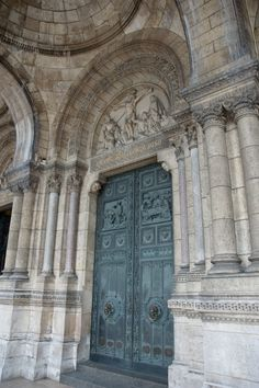Door of Sacre Coeur Basilica in Montmartre, Paris