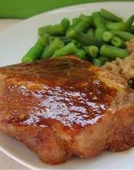 Marinated Baked Pork Chops ~ It is quick and easy, and makes for a tasty weekday supper. I often double the sauce to serve over rice.
