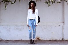 Get this look: http://lb.nu/look/6027303  More looks by Vu Thien: http://lb.nu/vuthien  Items in this look:  Thrift Store Top, Choies Jeans, Dr. Martens Boots