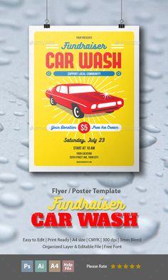 In  Car Wash Flyers Bundle   Car Wash Font Logo And Flyer